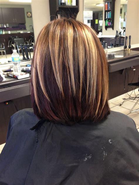 oval foil hair color chunky blonde brown burgundy highlights i m a