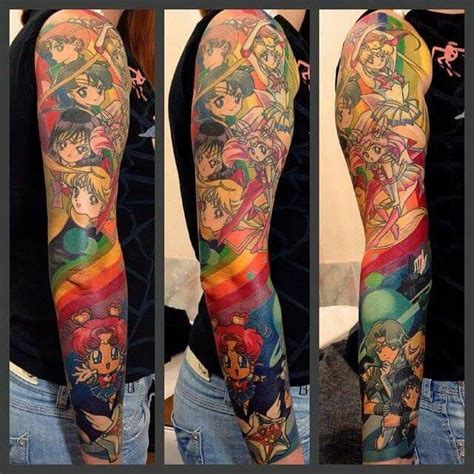 cartoon tattoo sleeve 39 school tattoos on sleeve