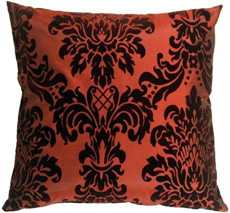 Damask Throw Pillows by Flocked Velvet Damask Throw Pillow From Pillow Decor
