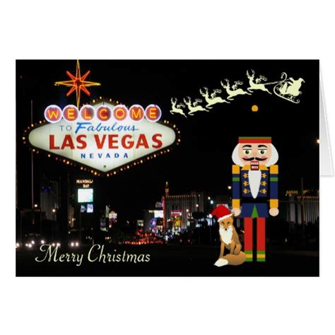 Las Vegas Gift Card Deals - las vegas christmas card with nutcracker zazzle