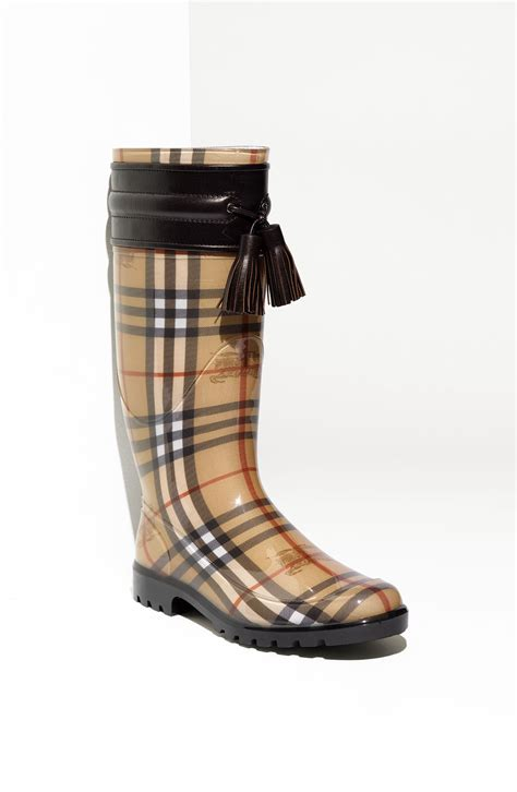 burberry boots for burberry leather trim boot in brown chocolate