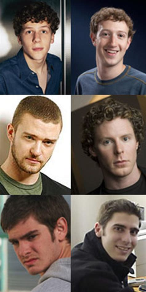 the social cast the social network cast photo david fincher photos