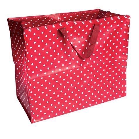 storage bags retrospot design jumbo storage bag dotcomgiftshop