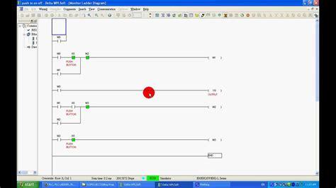 auto forwarding program push to on plc ladder program using no nc