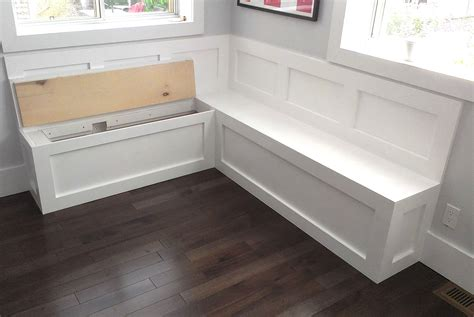 How To Build Banquette Seating With Storage by Bedroom Storage Bench Plans