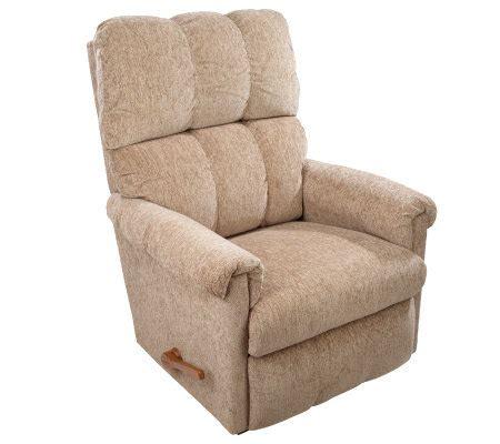 fabric rocker recliner la z boy quot vail quot chenille fabric rocker recliner qvc com