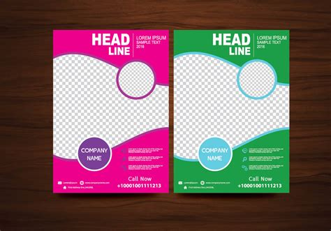 flyers templates free vector brochure flyer design layout template in a4 size
