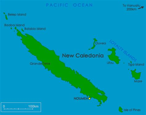map of new caledonia and australia new caledonia maps