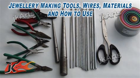 Paper Jewellery Materials - jewellery tools wires materials and how to use