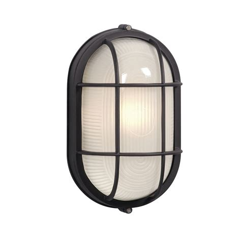 Bulkhead Lights Outdoor Oval Marine Bulkhead Light In Black Finish Ex305013bk Destination Lighting