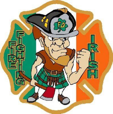 irish clipart firefighter pencil   color irish clipart firefighter