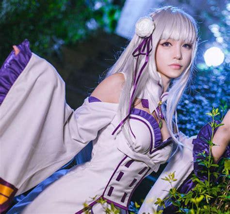 Kaos Anime Re Zero Kara Emilia anime re zero kara hajimeru isekai seikatsu emilia costume q ebay