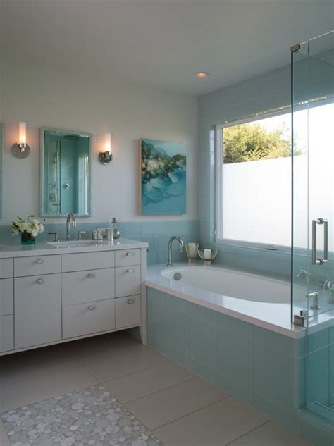 turquoise tile bathroom turquoise glass tiles contemporary bathroom shirley parks design