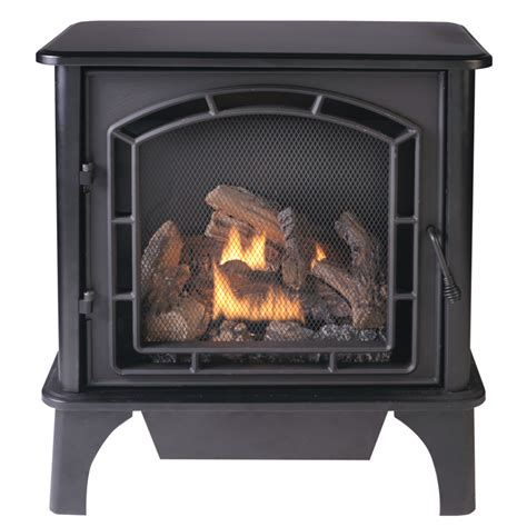 Cedar Ridge Fireplace shop cedar ridge hearth 25 75 in dual burner vent free black corner or wall mount liquid propane