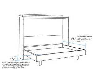 Free Bunk Bed Building Plans by Horizontal Dimensions Murphy Beds Portland