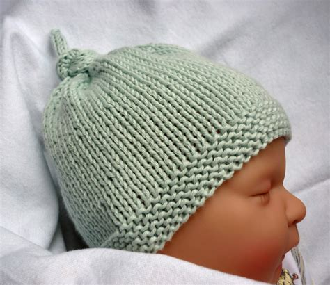 easy knitted beanies free patterns baby hat knitting pattern easy free search results
