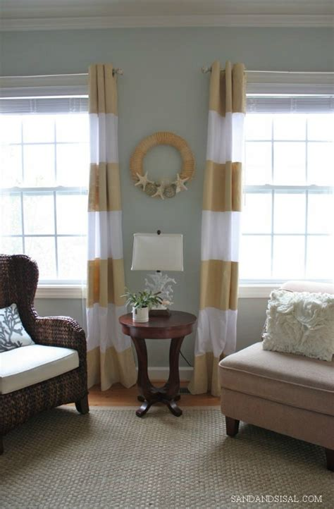 diy painted curtains sand and sisal