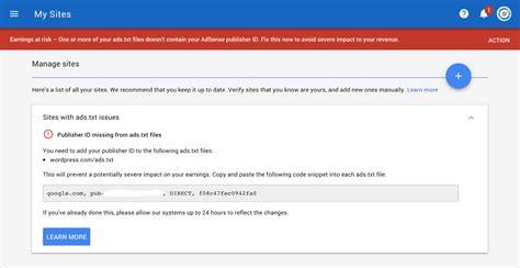 adsense error how to fix ads txt error message on google adsense account