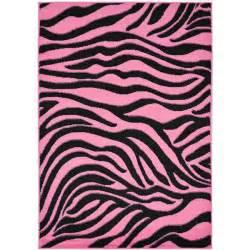 zebra print designs ottomanson pink animal print zebra design area rug 5 x 7