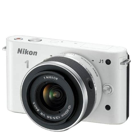 Lensa White Nikon nikon 1 j1 compact system with 10 30mm lens kit white 10 1mp 3 inch lcd refurbished