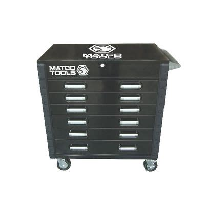 matco 6 drawer tool box hd cart full drawer black msc4bkfd matco tools