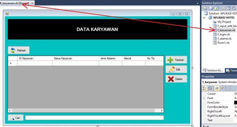 membuat aplikasi vb dengan database mysql 2 kemudian silahkan anda buka lagi form f karyawan