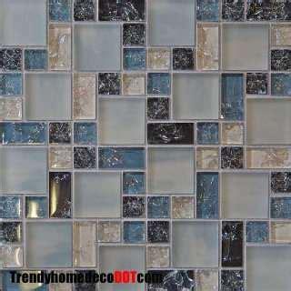 1 sf natural red glass mosaic tile backsplash kitchen wall sle natural red blue crackle glass mosaic tile kitchen