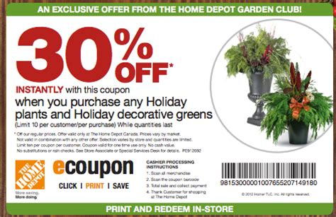 Home Depot Printable Coupon by Home Depot Printable Coupons September 2015