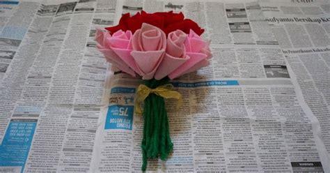 Mawar Tangkai Flanel aemvede cara buat bunga mawar dari kain flanel