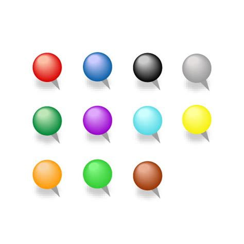 color pin vector eps material free 11 color pins