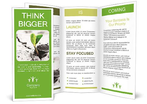 Small Green Plant Brochure Template Design Id 0000003879 Smiletemplates Com Small Brochure Template