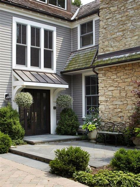 copper awning over door back door awning outdoors pinterest