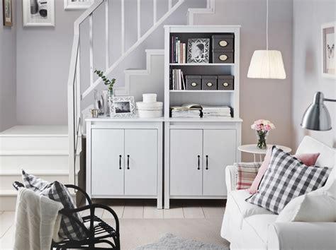 stylish storage  small living rooms ikea