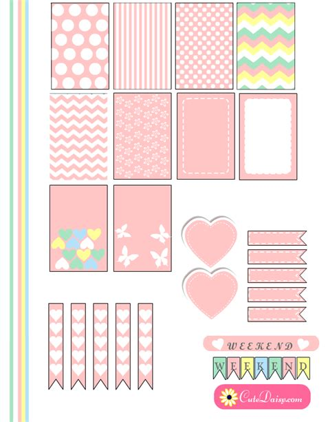 cute planner stickers free printable free printable planner stickers in marshmallow colors