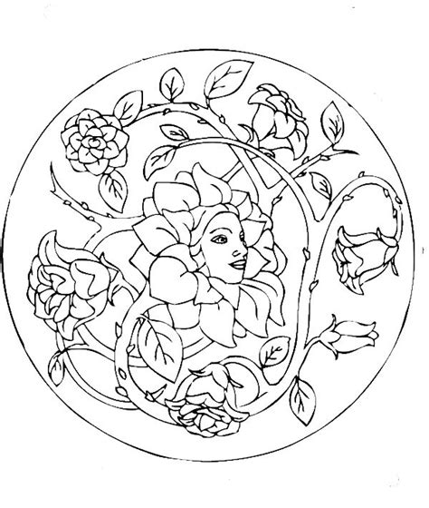mandala coloring pages roses beautiful mandala coloring pages day