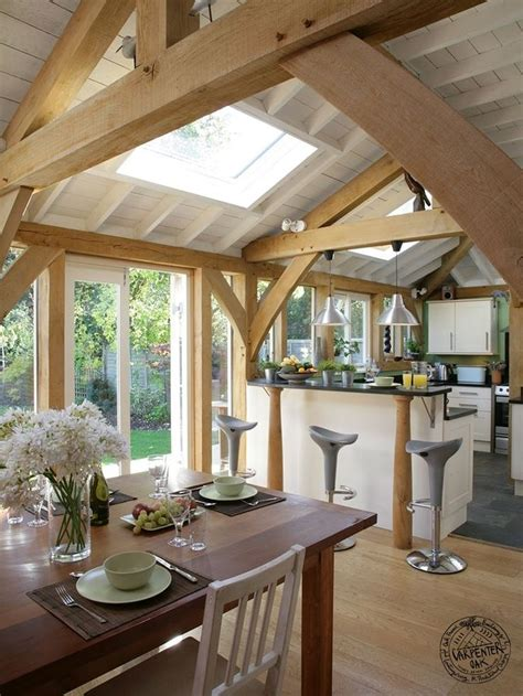 Cottage Kitchen Extensions by An Oak Extension On A 1930 S Semi House Giving Additional