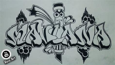 membuat nama grafiti maulana youtube