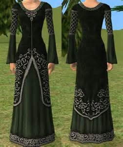 mod the sims green elven dress