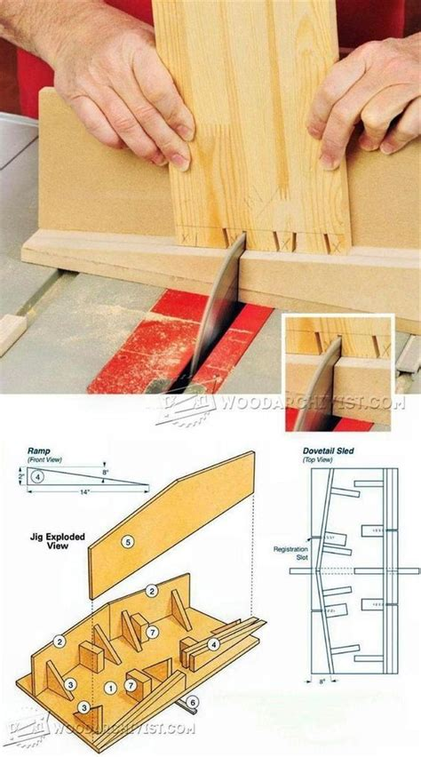 table  dovetail sled joinery tips jigs