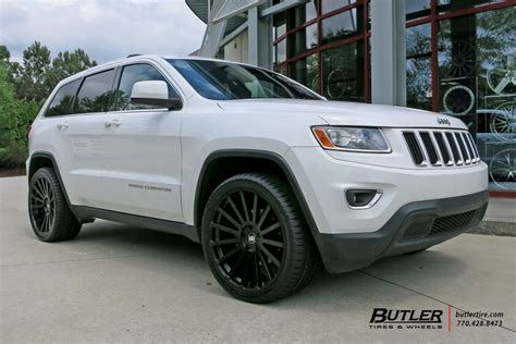 jeep cherokee white with black rims jeep grand cherokee with 22in black rhino kruger wheels