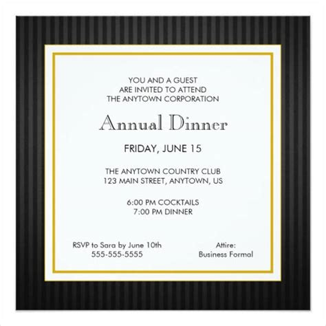 dinner invitation card template free dinner invitation templates free premium templates