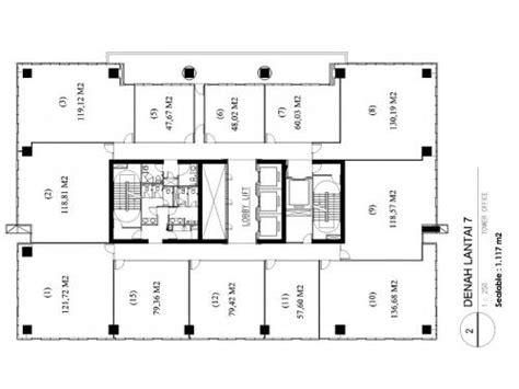 layout ruang perkantoran jual office space di pasar minggu jakarta selatan its