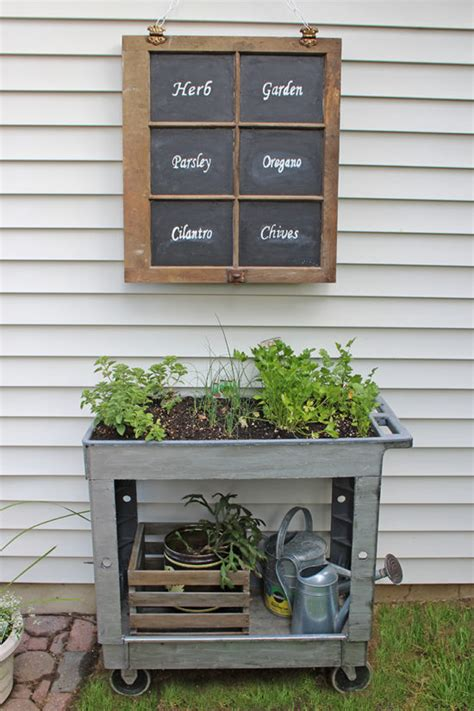 herb garden markers a giveaway the honeycomb home diy raised herb garden