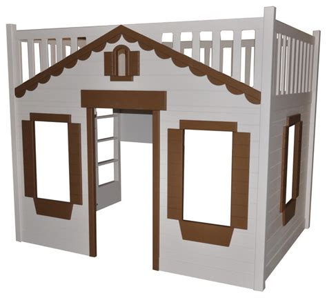cottage loft bed cottage loft bed w playhouse traditional