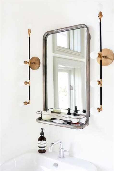 bathroom rack with mirror best 25 bathroom mirror with shelf ideas on
