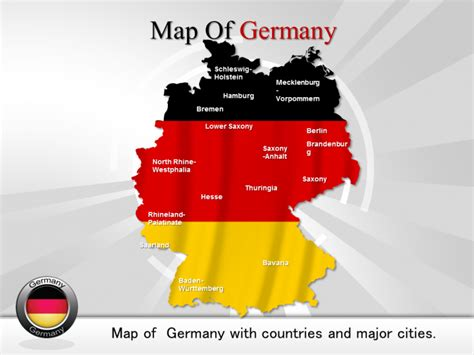 powerpoint layout germany powerpoint template which give you overview of germany map