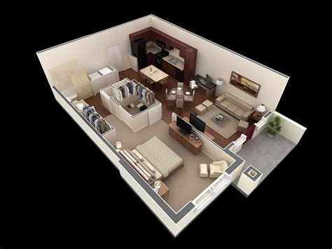 Small 1 Bedroom House 50 one 1 bedroom apartment house plans architecture design