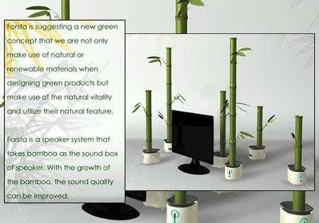 Speaker Bluetooth Forsta forsta an amazing bamboo speaker system green design
