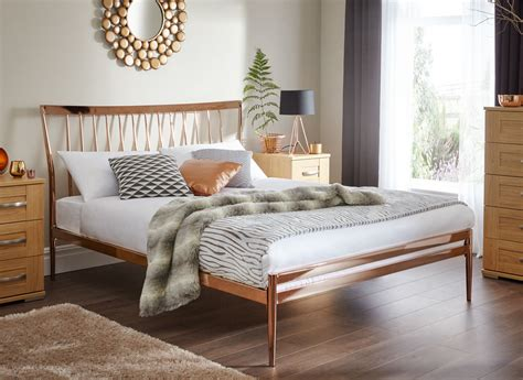 bed and bed frame copper metal bed frame dreams