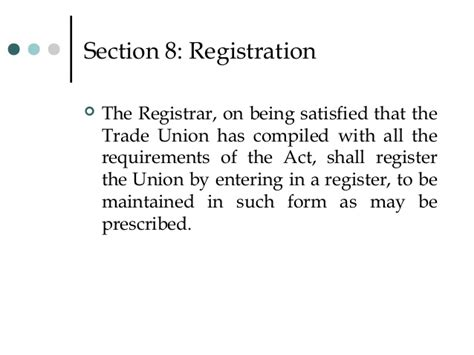 section 11 of trademark act 11 trade union act 1926